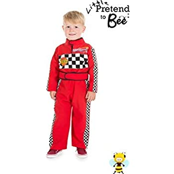 this item childrens boys girls red f1 racing car driver fancy dress costume 2 3 years