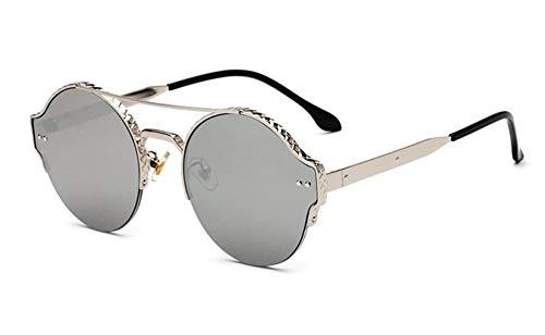 Sonnenbrille, Vintage Frauen Männer Metall Rund Die Hälfte Frauen Cat Eye Frame Sonnenbrillen Sonnenbrillen Sonnenbrillen Für Damen Sonnenbrillen Silber
