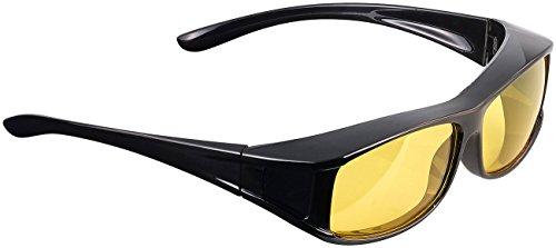 PEARL Kontrastbrillen: Überzieh-Nachtsichtbrille Night Vision Pro für Brillenträger (Überbrillen)