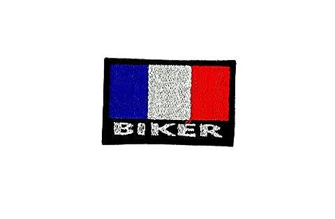 Patch ecusson brode backpack motard biker blouson drapeau france francais