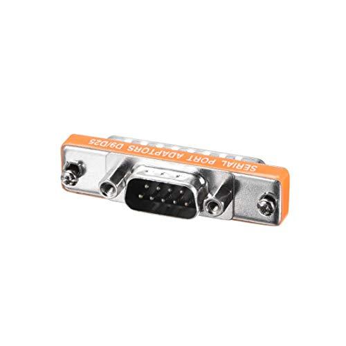 ZCHXD DB9 VGA Gender Changer 18 Pin DB25 Male to DB9 Male 2-Row Mini Gender Changer Coupler Adapter Connector for Serial Applications Orange -