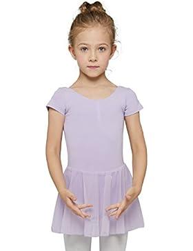 Mdnmd Mädchen Ballettkleid mit Rock und kurze Ärmel