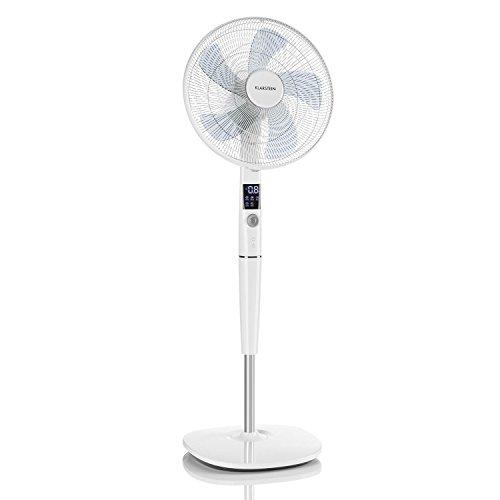 """Klarstein Silent Storm • ventilatore a piantana • silenzioso • Ø 16""""(41 cm) Ø • 5 modalità operative • Disaplay LCD • risparmio energetico • 35 Watt • 12 regolazioni • incl. Telecomando • bianco"""