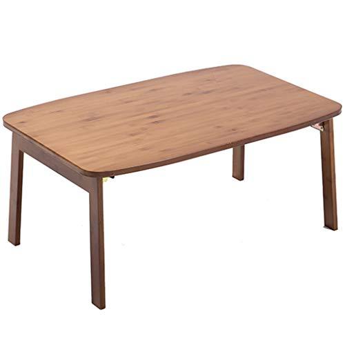 Holz Quadratischen Tisch (Weq Bett-Tablett Bett-Tablett mit Beinen Laptop Klapptisch Tragbarer Computer-Klappbett Bett mit massivem Holz Klappbarer quadratischer Tisch Wasserdicht und feuchtigkeitsfest)