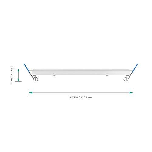 Aglaia 18W Panel Luz de Techo LED Φ210mm  Foco Empotrado Ultradelgado Redondo con LED Driver  6500K Blanco Frío y 1260 Lúmenes para Cocina Comedor