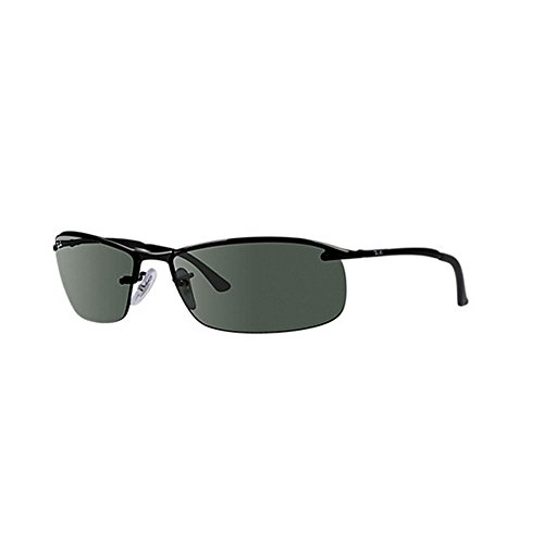 ray-ban-mens-rb3183-top-bar-rectangular-sunglasses-black-006-71-matte-black