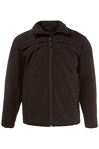 JP 1880 Herren große Größen bis 7XL   Softshelljacke   Outdoorjacke, Stehkragen, Fleece-Futter   Reißverschluss, Taschen   schwarz  ...