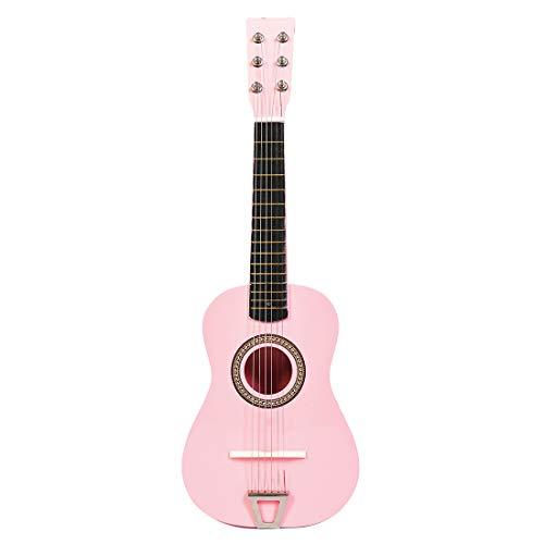 MRKE Ukelele Principiantes Guitarra Niño 23 Pulgada 6 Cuerdas Juguete de Instrumentos Musicales para Infantil Niño y Niña 3-8 Años (Rosa)