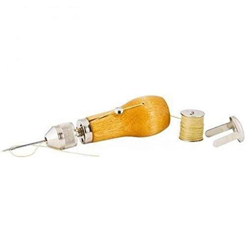 Professionelle Speedy Stitcher Nähen Ahle Tool Kit, Nadel Arts & Craft Werkzeug für Leder Sail & Leinwand Heavy Reparatur Zubehör - 3