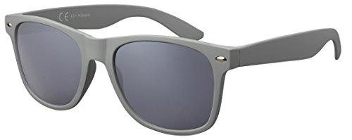 Original La Optica Verspiegelte UV400 Unisex Sonnenbrille - Farben, Einzel-/Doppelpacks (Einzelpack Rubber Stealth Grey (Gläser: Grau))