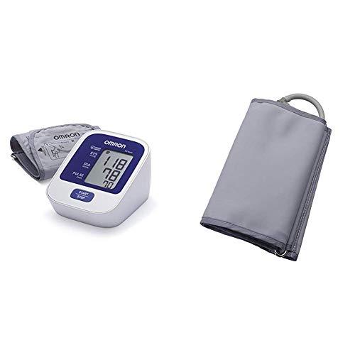 OMRON M2 Basic - Tensiómetro de brazo digital, tecnología Intellisense para dar lecturas de presión arterial rápidas, cómodas y precisas + Manguito Grande 32-42 cm