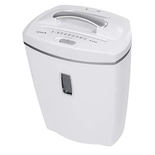 Genie 580XCD-Distruggidocumenti (fino a 8fogli, taglio a particelle, con CD-shredder, Cestino della carta incluso), bianco