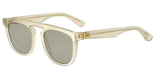 Mykita Sonnenbrillen MAISON MARGIELA MMRAW004 RAW CHAMPAGNE/GREY SOLID Damenbrillen