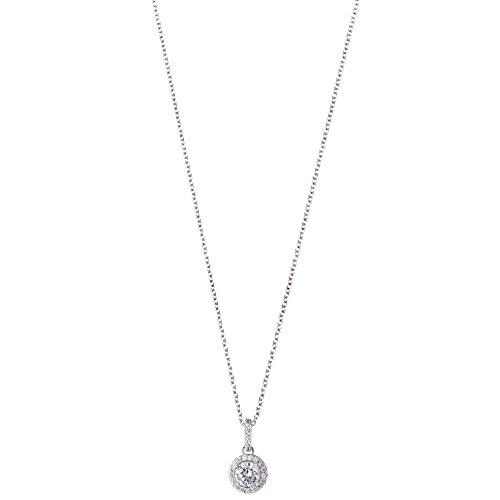 XENOX XS7361 Damen Collier Silver Circle Sterling-Silber 925 Silber weiß Zirkonia 45 cm