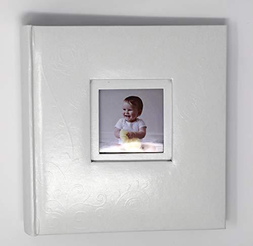 Bébé Garçon ou bébé fille Blanc élégant en cuir véritable Album photo Memo Style pages