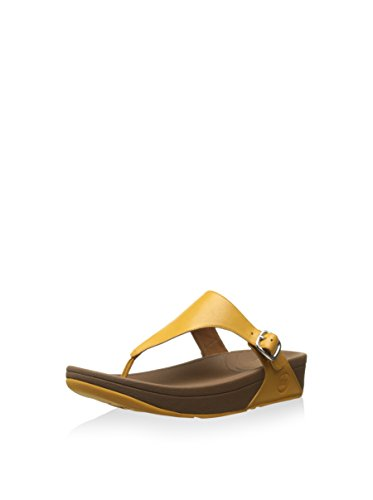 FITFLOP - The Skinny Tm Leather, Infradito Donna Giallo