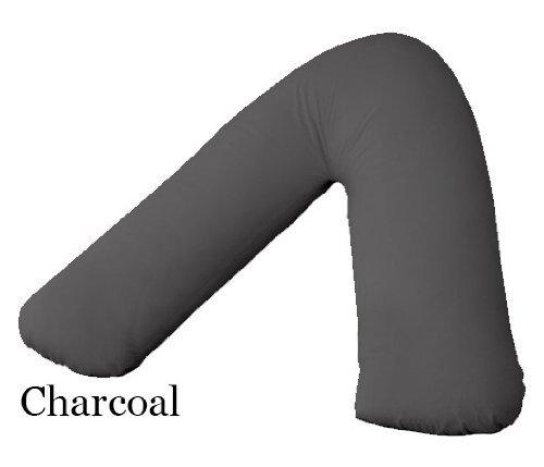 AdamLinens 68Pick con Forma de V almohadas + funda de almohada en forma de V