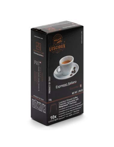 Luscioux sonetto capsule compatibili nespresso | gusto dolce ed aroma fruttato | confezione da 10 [totale 100 capsule]