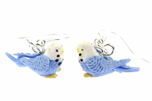 Wellensittich Ohrringe Miniblings Vogel Wellensittiche Sittich Fimo blau mini