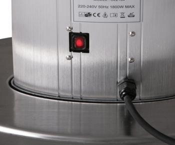 1.800 Watt Firefly™ Infrarot-Heizstrahler (Halogen) Terrassenheizung, freistehend, 2 Leistungsstufen, inkl. Fernbedienung - 3