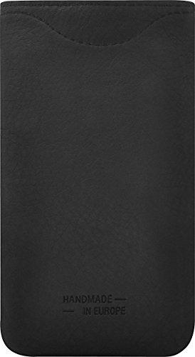 bugatti Skinny Ledertasche in schwarz/rot für z.B. Apple iPhone 4 / 4S, Samsung Galaxy SIII mini, BlackBerry Bold 9790 [Größe: M   Echtleder   Handarbeit   Logoprägung   Sehr dünn] - 07949 Schwarz