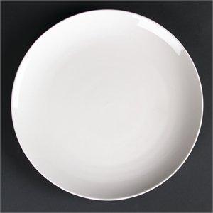 Lumina Assiettes Coupe en Porcelaine Fine 305 mm 305 mm/30,5 cm (Ø). Blanc. Quantité de Lot : 2.