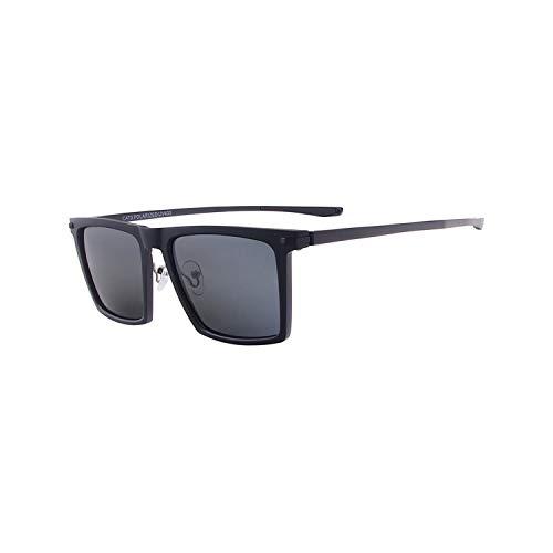 Vikimen Sportbrillen, Angeln Golfbrille,Tendaglasses Men Square Polarisiert Shades Plastic TR90 Magnesium Sunglasses For Prescription Degree Lenses Myopia Progressive Black