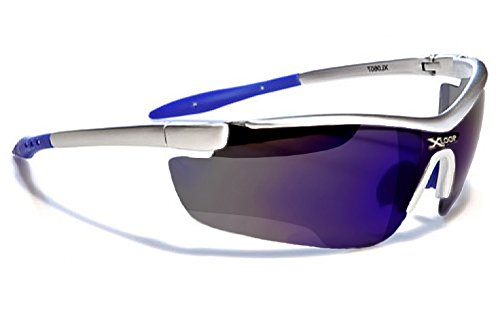 X-Loop Lunettes de Soleil - Sport - Cyclisme - Ski - Running - Tennis - Squash - Moto / Mod. 035P Gris Bleu Ice Iridium