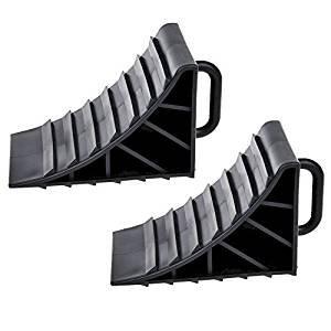 2x calces de rueda con freno de mango cuñas caravana remolque