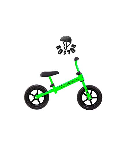 Grupo K-2 Minibike Bicicleta para Niños Baby Star Verde Fluor