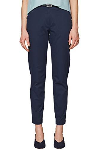 ESPRIT Collection Damen 039EO1B002 Hose, Blau (Navy 400), W36/L30(Herstellergröße: 36) Collection Casual Hosen