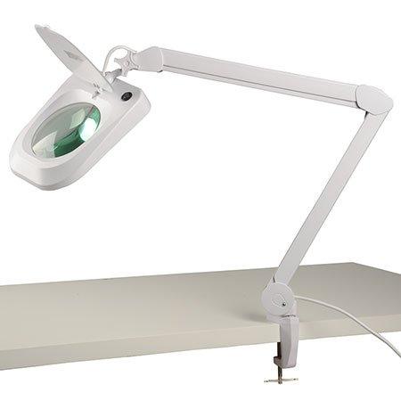 ELV Lupenleuchte, 2,25-fache Vergrößerung, LED 90 Stück, 9 W, Tischklemme - 2.25
