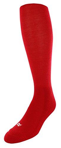 Acryl-sport-team Sock (Sof Sole Endzone Fußball über die Wade Team sportlichen Leistung Socken für Herren und Jugend, 2er Pack, Jungen Mädchen, rot, Youth Small 10-4.5)