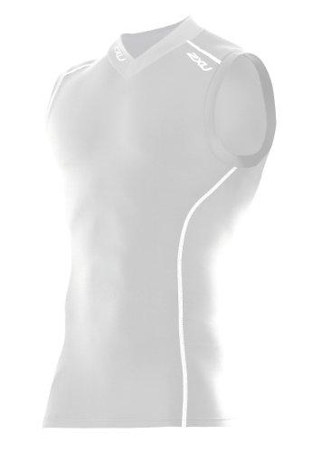 2XU Herren Kompressionstop Mens Sleeveless White/white