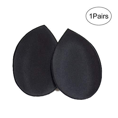 Frauen Removable Smart-Cup BH-Einsatz-Auflagen für Badebekleidung 1 Paar (schwarz Drip Shaped) -