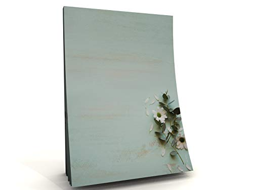 Dekoration Sommer Blumen Motivpapier Block Zarte Margeriten, 50 Blatt DIN A5, 90g/qm
