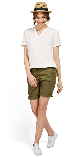 TOM TAILOR für Frauen pants / trousers Chino Relaxed Bermuda-Shorts dry greyish olive 34