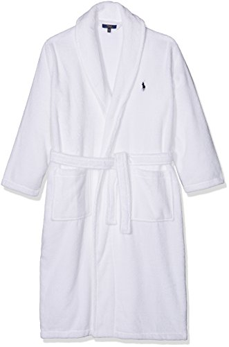 Polo Ralph Lauren Herren Bademantel Shawl Collar Robe Weiß (WHITE A1000)