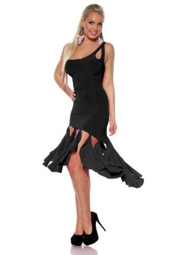 Angies Glamour Fashion - Robe - Asymétrique - Femme Noir
