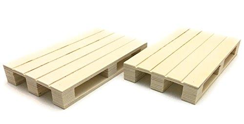 2 x Paletten-Untersetzer Servierbrett Servierpalette Mini-Palette Topfuntersetzer Dekoration, Holz ca. 20 x 12 x 3cm