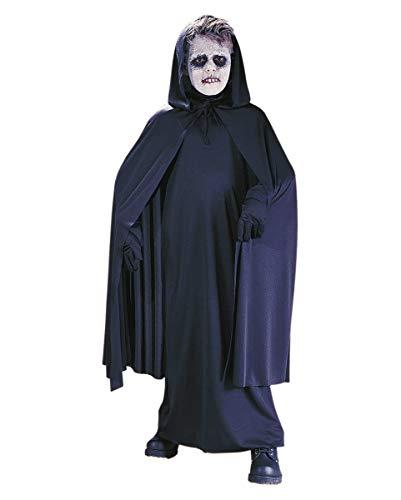 Horror-Shop Schwarzer Kinderumhang für Halloween & Fasching