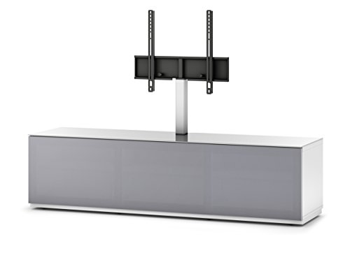Sonorous STD 261T-WHT-GRY-BS Studio TV-Lowboard für 177,8 cm (70 Zoll) Fernseher weiß/grau
