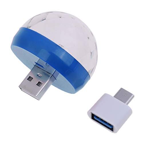 IPOTCH USB/Typ C Discokugel Partylicht,RGB LED Disco Licht DJ Party licht Bühnenbeleuchtung - Blau
