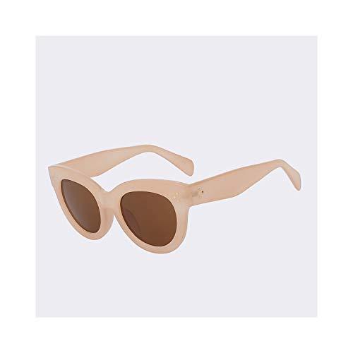 Sportbrillen, Angeln Golfbrille,Cat Eye Sunglasses Women Brand Designer Sun Glasses Retro Vintage Rose Gold Points Female Top Quality Oculos De Sol Feminino C4 Nude