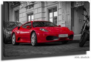 stativkunst ColorKey Ferrari F360 Spider - Wandbild in 125x69 cm auf Alu-Dibond