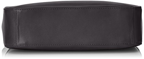 CTM Borsa Donna Hand, Schultertasche Elegant, 34x23x10cm, echtes Leder 100% Made in Italy Schwarz (Nero)