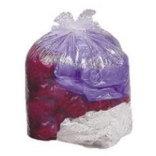 greenmybusiness Clear Large Compactor 'Eco Polythene' Refuse Sacks 20 x 34 x 47