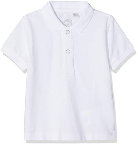 Chicco Baby-Jungen Poloshirt Polo Manica Corta, Weiß (Bianco 033), 56 (Herstellergröße: 062)