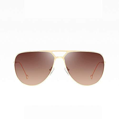 AFCITY Polarisierte Sonnenbrillen für Männer und Frauen S Wandern Radfahren Brille Metall Spiegel UV400 Objektiv Runde Sonnenbrille Für Männer Frauen (Farbe : Braun, Größe : Casual Size)