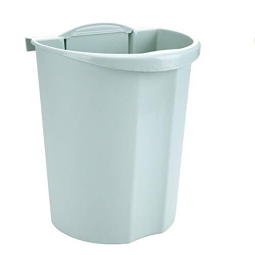 Zlw-shop Secchi per la spazzatura Pattumiera da Cucina di plastica di Moda Creativa pattumiera a Parete (Color : Green)